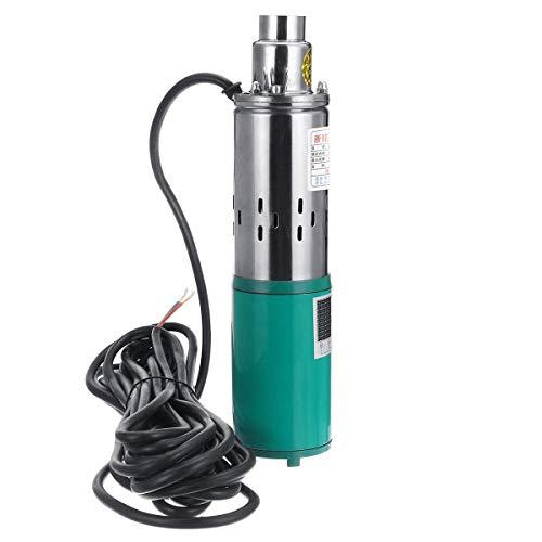 Yongenee Bomba de Agua 260W 24V Pozo Profundo Bomba Sumergible de Energía Solar 1.2M³ / H 50M máxima de elevación Herramientas industriales