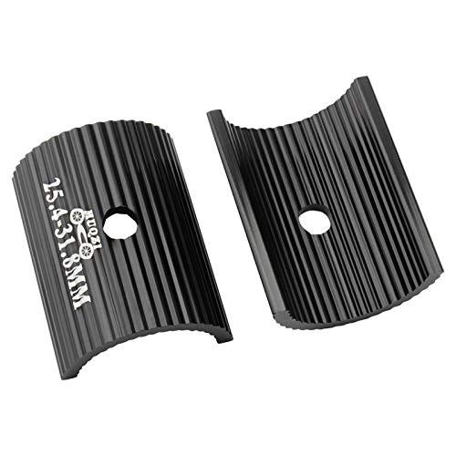 POHOVE 2 piezas de manillares de bicicleta, 25,4 – 31,8 – 35 mm, aleación de aluminio, hoja de conversión universal para manillar de bicicleta