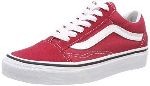 Vans Old Skool, Zapatillas de Entrenamiento Unisex Adulto, Rojo (Crimson/True White Q9U), 43 EU