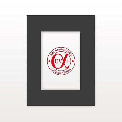 AlphaUVplus Passepartout Everest11 - Außen: 40 x 50 - Für Bildgröße DIN A3 - Museumsqualität