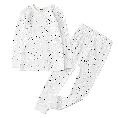 Owlivia 100/% Organic Cotton Baby Long Sleeve Pajama Sets,Toddler Boy Girl 2-Piece Sleepwear