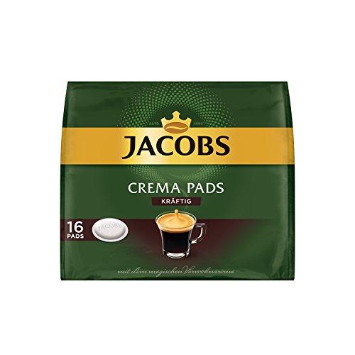 Jacobs Kaffeepads Crema Kräftig, 16 Senseo kompatible Pads für 16 Getränke
