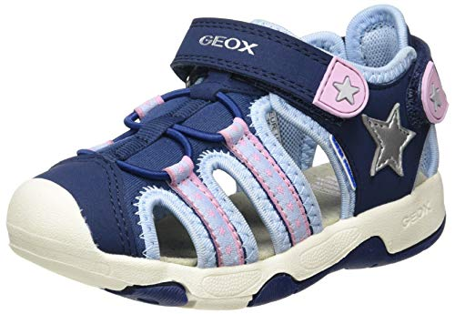 Geox Baby Mädchen B Multy Girl A Sandalen, Pink (Fuchsia/Dk Pink C8n8f), 26 EU
