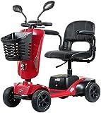 BXZ Scooter eléctrico de 4 ruedas para adultos Scooter de movilidad eléctrica Scooter de viaje para personas mayores de servicio pesado, pasamanos plegable y abatible, asiento de 45 cm de ancho para