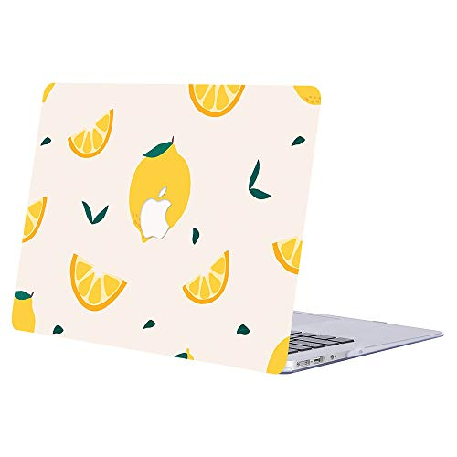 AJYX MacBook Pro 13 inch Case 2020 2019 2018 2017 2016 Release A2289 A2251 A2159 A1989 A1708 A1706 Smooth Plastic Protective Shell with Patterns Laptop Cover for MacBook Pro 13', Yellow Lemon