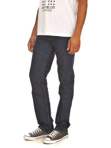 Lee Herren Brooklyn' Straight Jeans, Blau (DARK STONEWASH), W33/L34