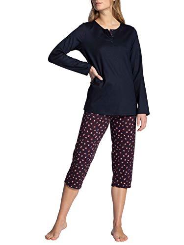 CALIDA Damen Autumn Dreams Pyjamaset, Dark Lapis Blue, XS