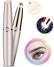 Eyebrow Hair Remover, Xpreen Electric Eyebrow Hair Trimmer with LED Light-Eyebrow Hair Remover for Women - Best & Safest Lady Trimmer for Eyebrow