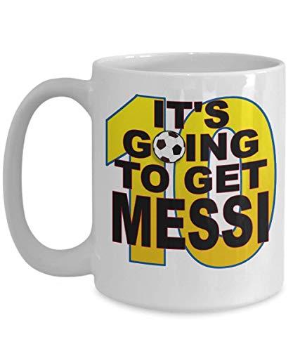 N\A Va a Conseguir la Taza de Regalo de café de Messi Soccer Futbol # 10 o Taza de cerámica