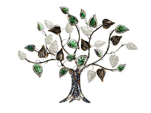 Formano Wanddeko Baum Blätter aus Metall Mehrfarbig Verschiedene Größen 68x57cm (68 cm)