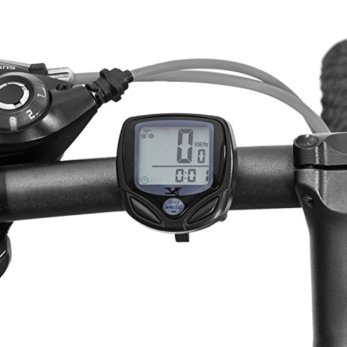 XINTO Premium Bicycle Odometer and Speedometer, Wireless Backlight Waterproof Cycle Bike Computer with Large LCD Display and Multi-Functions