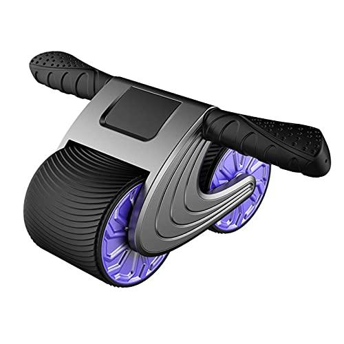 Rueda de músculos Abdominales (diseño de imitación de la Banda de Rodadura, Antideslizante y Resistente al Desgaste, Pantalla de Datos LED, Rebote automático),Blue