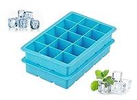 levivo 331800000182 stampo per cubetti di ghiaccio, silicone, blu, 19 x 12 x 4 cm, 2 unità
