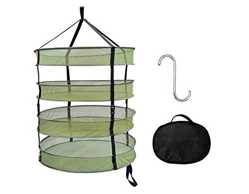 Chana Netz ablassen Kräuter-Abtropfgestell, zusammenklappbar, 4-lagiges Netzgewebe, zum Aufhängen von Kräutern, für Hydrokultur, Kräuter, Topf, Gemüse, Obst, Blumen, Knospen oder Kleidung