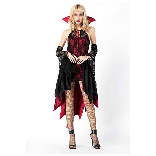 dmsc Noche de la seora de Halloween callejeros Vampiro Mascarada Disfraz de Bruja Cosplay Uniforme. (Color : A, Talla : One Size)