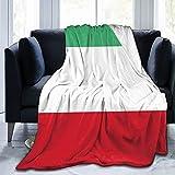 Blankets Italian Flag Blanket Theme Oversized Sherpa Fleece Throw Wearable Blankets Hoodie Cloak 60'x50'