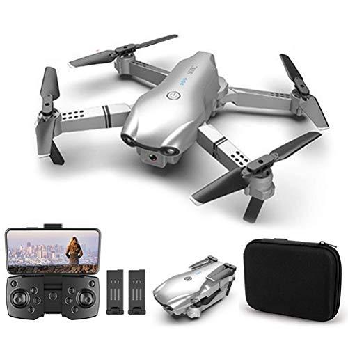 J-Love Mini Drones con cámara 4K HD para Adultos, Drone Plegable, Cámara Dual conmutable FPV Quadcopter,Flip360°, Transmisión en Tiempo Real, Tiempo Vuelo 30 Minutos, 2 baterías