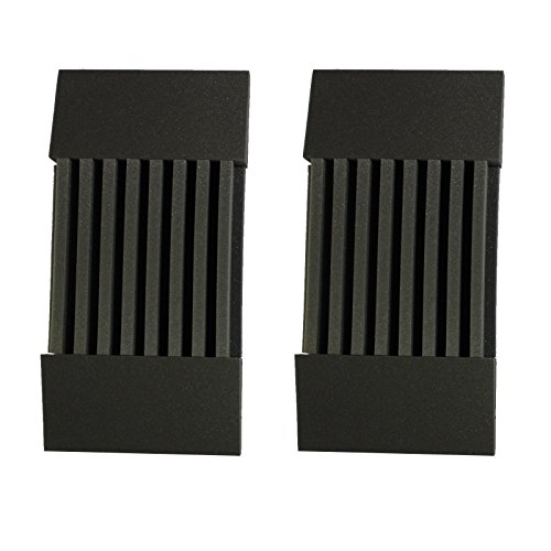 "Mybecca 2 Pack Decorative Acoustic Panels Soundproofing Studio Foam Wedges 3"" X 12"" X 24"" (Decorative Baffle Kit) - Made in Usa - Color Charcoal"
