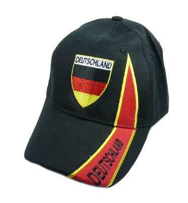 Fan Cap Deutschland schwarz Kappe Fahne Flagge Basecap