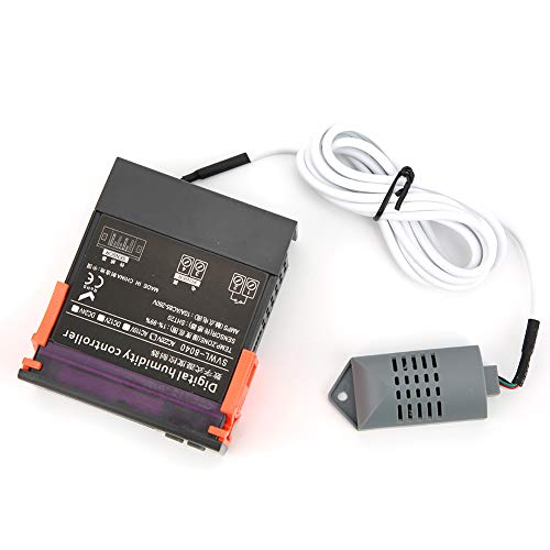 Esenlong Svwl-8040 Ac220v Pantalla Led Controlador de Humedad Sensor de Humedad de Alta Precisión con Pantalla Led para Humidificador Deshumidificador Desecantes Secadoras de Ropa Negro