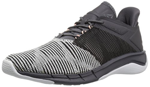 Reebok Women's Fast Flexweave, White/ash Grey/Black/Desert dust, 8 M US