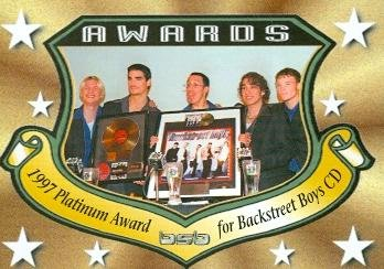 Backstreet Boys trading card 2000 WL #2 Awards Platinum CD AJ McLean Nick Carter Howie D Kevin Richardson Brian Littrell