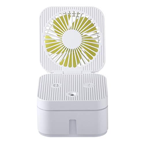 JGRR USB del pequeño Ventilador del Cubo de Rubik humidificador portátil de Mano pequeño Aerosol de Gran Capacidad hidratante Hidratante Es Conveniente para la Oficina, Dormitorio, Viajes,Blan