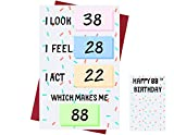 Funny 88th Birthday Cards for Women Or Men – for Friends, Family, Lover, Etc. – Funny Birthday Cards 88 Years Old – Perfect Funny Birthday Cards 88th Anniversary – with Envelope