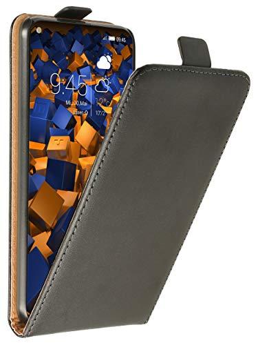 mumbi Tasche Flip Hülle kompatibel mit Honor View 20 Hülle Handytasche Hülle Wallet, schwarz