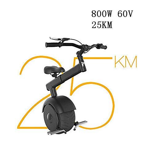 ZDW Monociclo eléctrico para silla de ruedas Monociclo eléctrico autobalanceado, motor de cubo de 800 W Scooter eléctrico de una rueda con barra de tensión de neumáticos de calle sin barra Reposapiés
