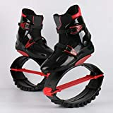 YXHUI Zapatos De Elástico Salto Fácilmente Espacio Gorila Salto Zapatos Zancos Rebote Zapatos,RedBlack-XL