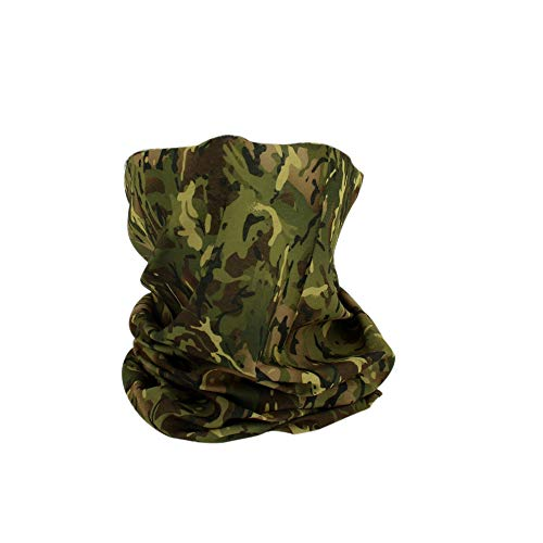 Fishing Tree Camo Coolmax Neck Gaiter - Wick Away Camouflage Face Mask