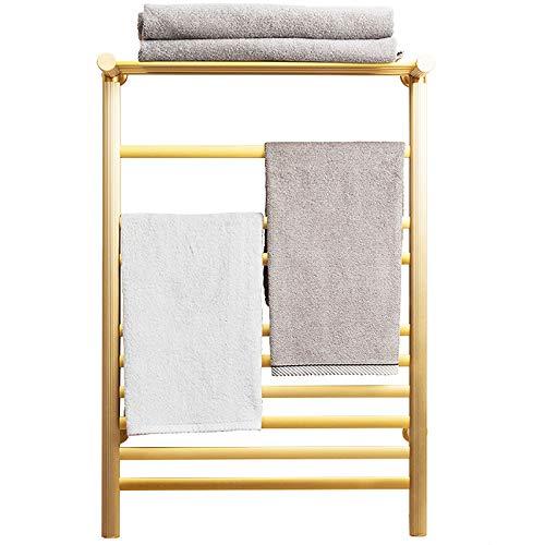 XZGDEN Radiador de Toalla eléctrico, toallero, toallero de baño, montado en la Pared, 31,5 x 20,8 Pulgadas, Espacio de Aluminio (Color : Gold)