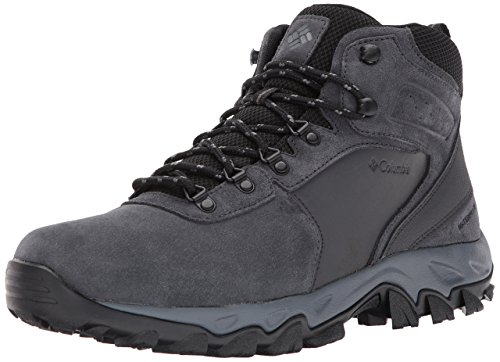 Columbia Men's Newton Ridge Plus II Suede Waterproof Hiking Boot Shoe, shark/black, 10.5