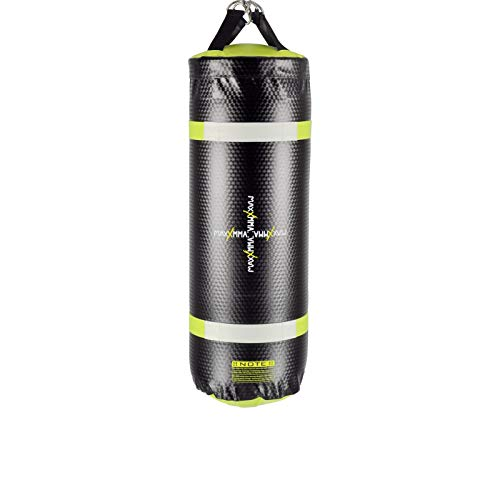 MaxxMMA Training & Fitness Water/Air Heavy Bag, Uppercut Workout Grappling MMA Punching Bag (Black/Neon Yellow)