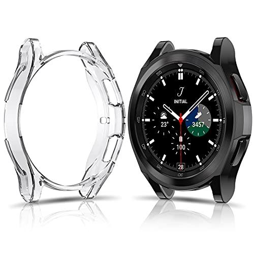 FITA Pellicola Custodia compatibile con Samsung Galaxy Watch 4 Classic 42mm [2 Pezzi], Cover in TPU Morbido, Custodia Antigraffio Senza Protezione Schermo compatibile con Samsung Galaxy Watch4 Classic