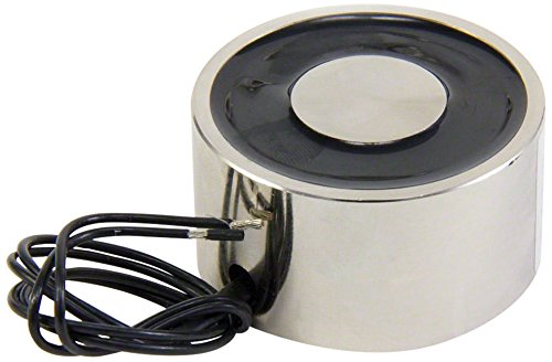 Magnet Expert® 50mm Durchmesser x 27mm dick Magnet mit M5 Befestigungsbohrung - 50kg Pull (10W / 0.45A) (2er-Pack)