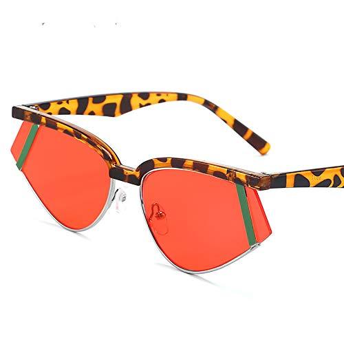 HFSKJ Gafas de Sol, Gafas de Sol Triangulares de Metal Gafas de Sol Coloridas Las Gafas Populares Son adecuadas para Hombres y Mujeres,F