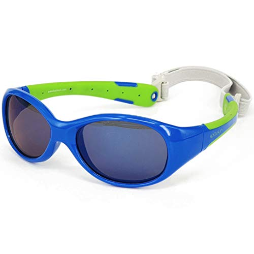 KOOLSUN Flex Kinder-Sonnenbrille, 3-6 Jahre, Blau / Limettengrün