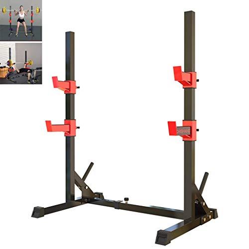 Kniebeugenständer Bankdrückständer Home Fitness Equipment Sportgerät Langhantelablage Breite und Höhe verstellbar