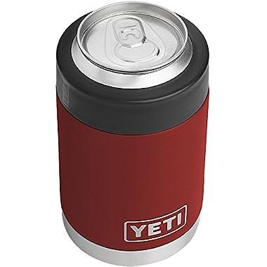 YETI Rambler Stainless Steel Vacuum Insulated Colster, Brick Red