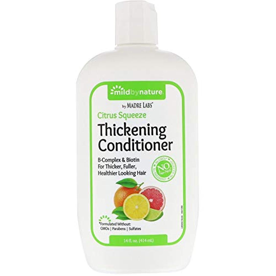 投資エージェント金銭的Madre Labs, Thickening B-Complex + Biotin Conditioner, No Sulfates, Citrus Squeeze、14液量オンス(414 ml)