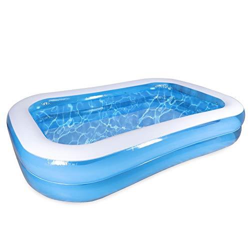 Paddling Pool, Kids Paddling Pool Large Children Swimming Pool Rectangular Inflatable Pool for Gardens Outdoor Splash 78.7' X 59' X 19.7'
