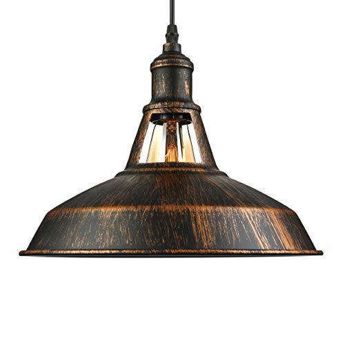BAYCHEER Retro Industria Candelabros 28 cm Simplicity metal Lámpara colgante E27 - Lámpara de techo en Old Factory estilo cobre lacado