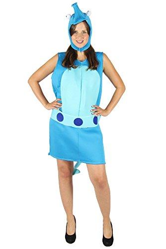 Foxxeo Seepferdchen Kostüm für Kinder zu Fasching oder Karneval Tierkostüm Unterwasserkostüm Größe 110-116