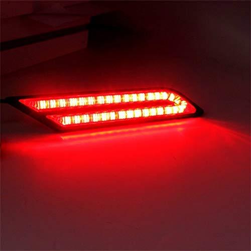 HAIHAOYF Luces de Funcionamiento diurnos de 2 Piezas, 12V LED de luz de luz LED Light Light Light Bumper Lightts (Color : Red)
