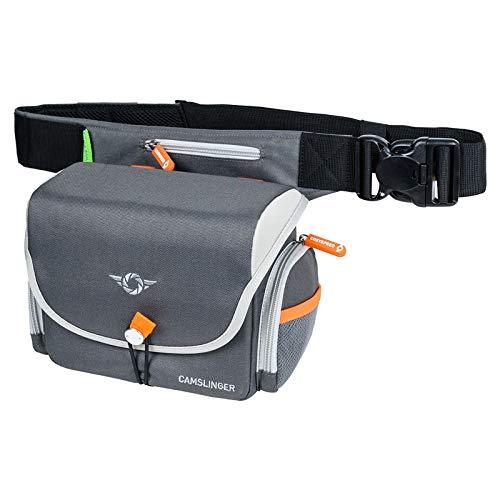 COSYSPEED Camslinger Outdoor MKIII Kameratasche mit Hüftgürtel für Systemkameras und kleine DSLR-Kameras Grau