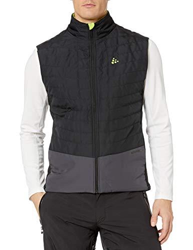 Craft Men's Storm Thermal Quilt Wind Protective Nordic Snow Skiing Vest, Black/Asphalt, Large
