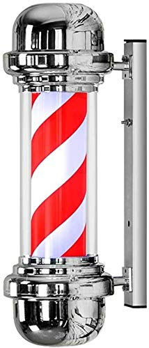 Fantastic Prices! QIENON LED Barber Pole Light Red White Strips Waterproof Save Energy Rotating Wall...