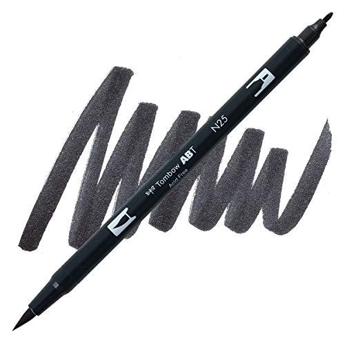 Dual Brush Pen Tombow Lamp Black N25